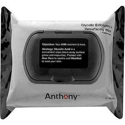 AnthonyGlycolic Exfoliating %26 Resurfacing Wipes