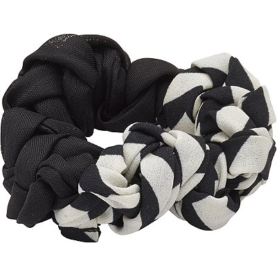 Karina Black & White Braided Twister