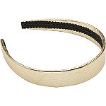 Gold Metallic Snake Print Headband