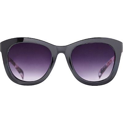 StarlightBlack & Floral Mod Wayfarer Sunglasses