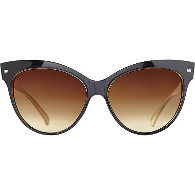 StarlightBlack Nude Cateye Sunglasses