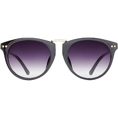 Starlight Black Gold Cateye Sunglasses
