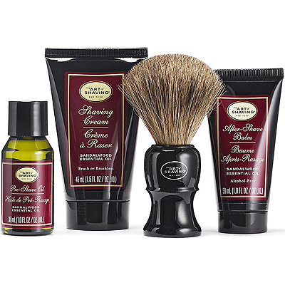 The Art of Shaving Online Only The 4 Elements of the Perfect Shave Sandalwood Mid-Size Kit