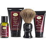 The 4 Elements of the Perfect Shave Sandalwood Mid-Size Kit