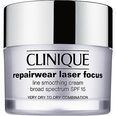 Clinique Repairwear Laser Focus Line Smoothing Cream Broad Spectrum SPF 15 Very Dry to Dry Combination