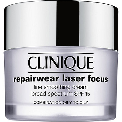 Clinique Repairwear Laser Focus Line Smoothing Cream Broad Spectrum SPF 15 Combination Oil to Oily