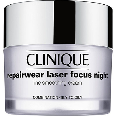 CliniqueRepairwear Laser Focus Night Line Smoothing Cream Combination Oily to Oily