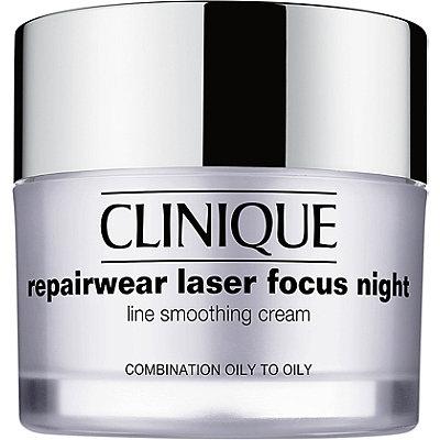 CliniqueRepairwear Laser Focus Night Line Smoothing Cream Combination Oily to Oily