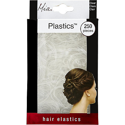 MiaNo Slip Clear Plastic Elastics