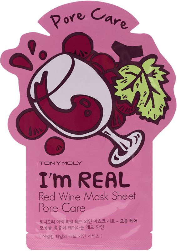 I'm Real Red Wine Sheet Mask by TONYMOLY #18