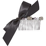 Side Comb with Black Ribbon