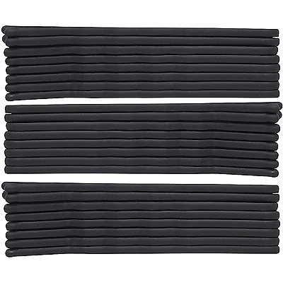 Karina Black Rubberized Bobby Pins
