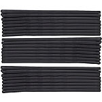 Black Rubberized Bobby Pins