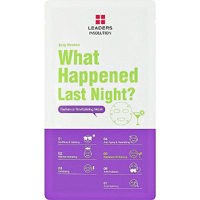 Daily Wonders What Happened Last Night Revitalizing Mask