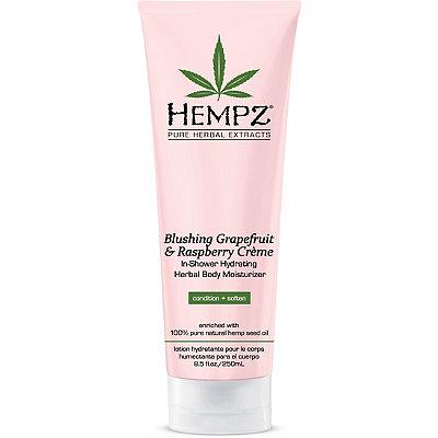 HempzBlushing Grapefruit & Raspberry Crème In-Shower Herbal Body Moisturizer