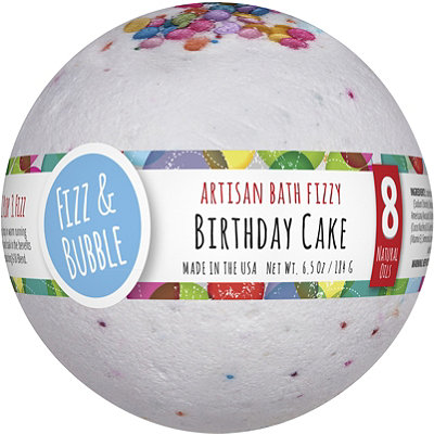 Birthday Cake Large Bath Fizzy