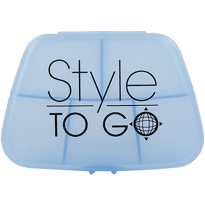 Style To Go5 Compartment Blue Pill Case