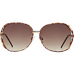 StarlightGold Aviator Sunglasses with Pink Mirror Lens