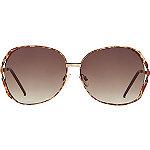StarlightGold Aviator Sunglasses with Pink Mirror Lens