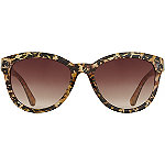 StarlightCateye Bling Leopard Print Sunglasses