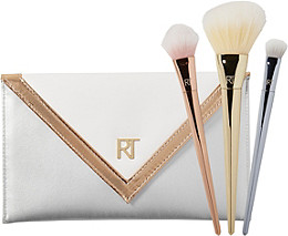 Real Techniques Bold Metals Essentials Set with Exclusive Metallic Clutch