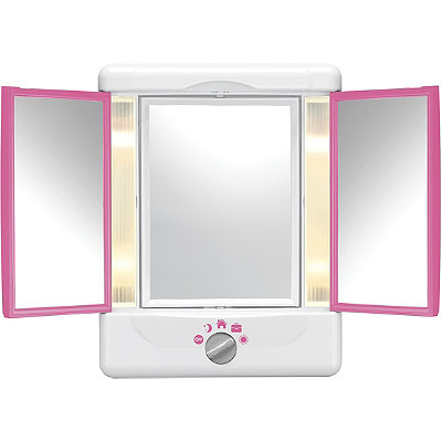 ConairTri Fold Pink Colorblock Mirror
