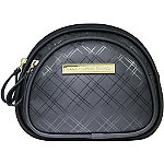 Anna Martina FrancoTonal Plaid Double Zip Dome Cosmetic Case