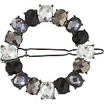 Black & Clear Rhinestone Barrette