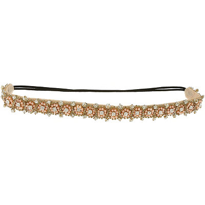 Capelli New York Head Wrap Beaded Peach