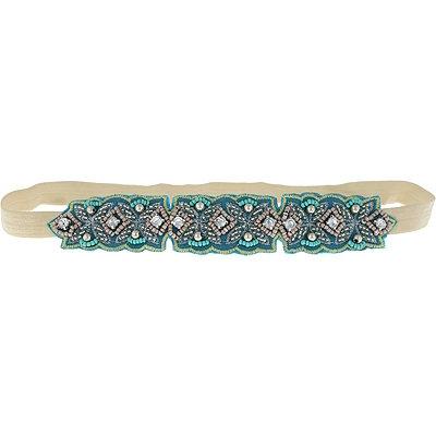 Capelli New YorkHead Wrap Fabric & Beads Teal Combo