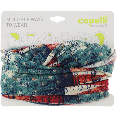 Capelli New York Head Wrap American Flag Ivory Combo