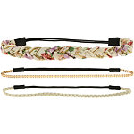 Capelli New YorkHead Wrap Mixed Ivory Combo 3ct