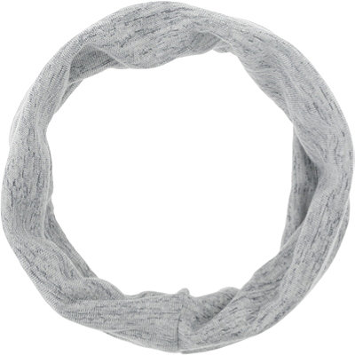 Head Wrap Space Dye Light Grey
