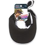 ScünciHead Wrap Visor Black W/ White Piping