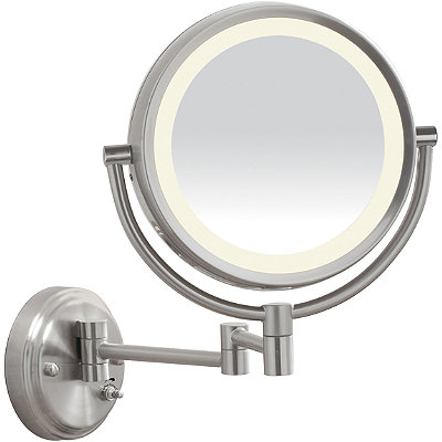 satin nickel mirror only led satin nickel wall mount mirror 2104