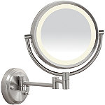 ConairOnline Only LED Satin Nickel Wall-Mount Mirror