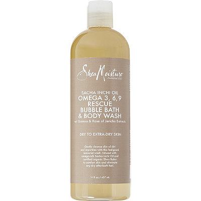 SheaMoisture Sacha Inchi Omega 3%2C6%2C9 Rescue %26 Replenishing Bubble Bath %26 Body Wash