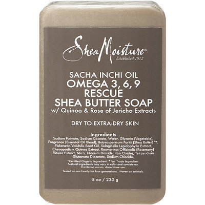 SheaMoisture Sacha Inchi Omega 3%2C6%2C9 Rescue %26 Replenishing Shea Butter Soap