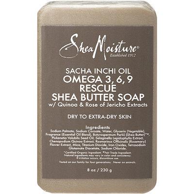 SheaMoistureSacha Inchi Omega 3%2C6%2C9 Rescue %26 Replenishing Shea Butter Soap