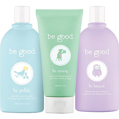 Be Good 3-Piece Natural Bath Gift Set For Kids