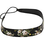 Karina Head Wrap W/Printed Flowers Black