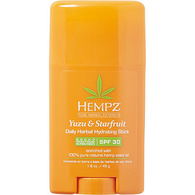 Hempz Yuzu %26 Starfruit Daily Herbal Hydrating Stick Broad Spectrum SPF 30