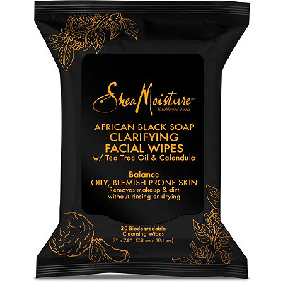 SheaMoisture African Black Soap Clarifying Cleansing Facial Wipes