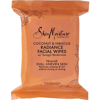 SheaMoisture Coconut %26 Hibiscus Radiance Cleansing Facial Wipes