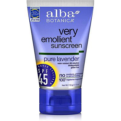 Alba BotanicaVery Emollient Sunscreen Lavender SPF 45