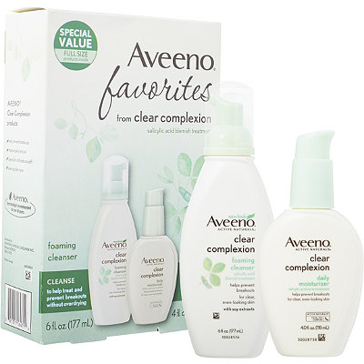 Aveeno Clear Complexion Cleanser %26 Moisturizer Favorites Pack