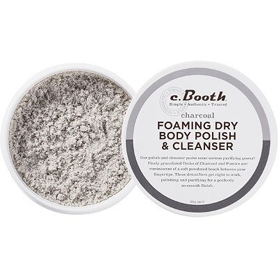 C. Booth Charcoal Foaming Dry Body Polish %26 Cleanser