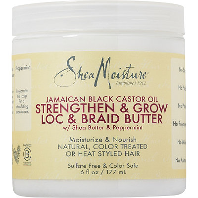 SheaMoisture Jamaican Black Castor Oil Strengthen %26 Grow Loc %26 Braid Butter