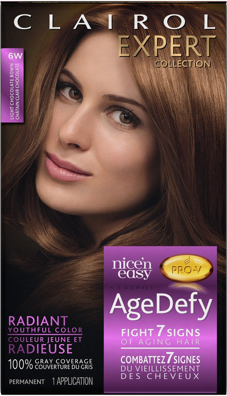 Expert Collection Age Defy Permanent Hair Color 6W Light Chocolate ...