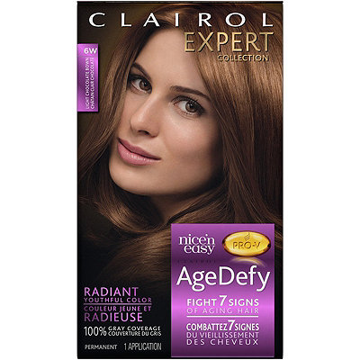 Clairol Expert Collection Age Defy Permanent Hair Color 6W Light Chocolate Brown